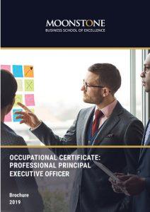 Occupation Certificate: Professional Principal Executive Officer Brochure 2019